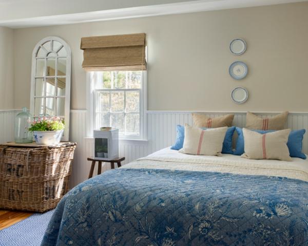 schlafzimmer ideen strand inspiration blau