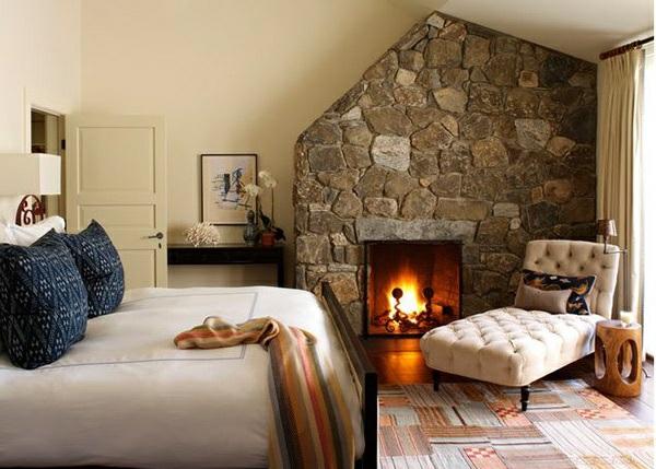 Schlafzimmer ideen im traditionellen stil 15 beispiele - Steinwand schlafzimmer ...
