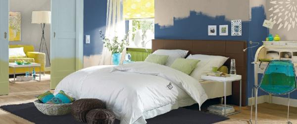 schlafzimmer wände streichen farbgestaltung ideen wandfarben