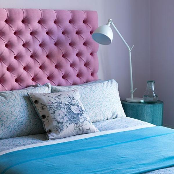 schlafzimmereinrichtung farben gestalten dekoideen gepolstert kopfteil