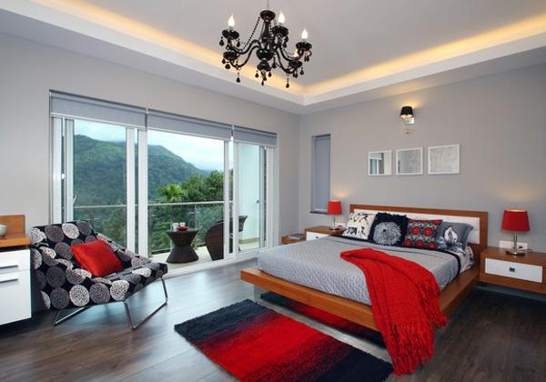 schlafzimmerwand gestalten - farbkombination und farbgestaltung