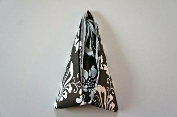schwarz weiß papierservietten falten tischdeko ideen