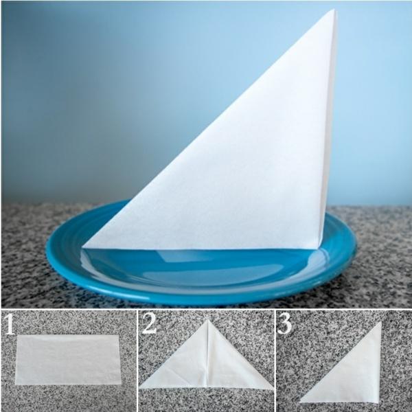 servietten falten anleitung diy tischdeko papierservietten falten