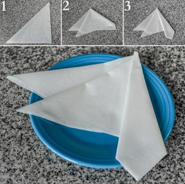 servietten falten anleitung kreative bastelideen tischdeko