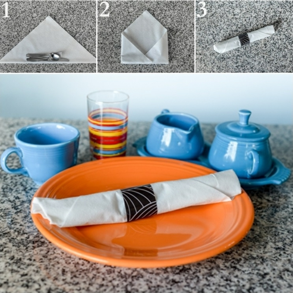 servietten falten anleitung kreative tischdeko ideen