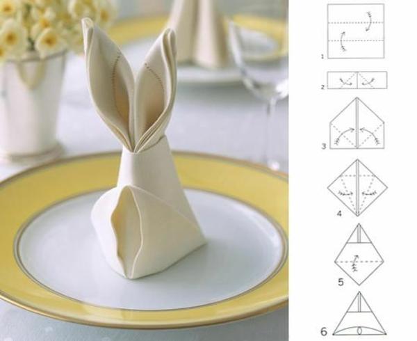 Servietten falten tischdeko mit einfachen falttechniken - Serviettenfalttechnik anleitung ...