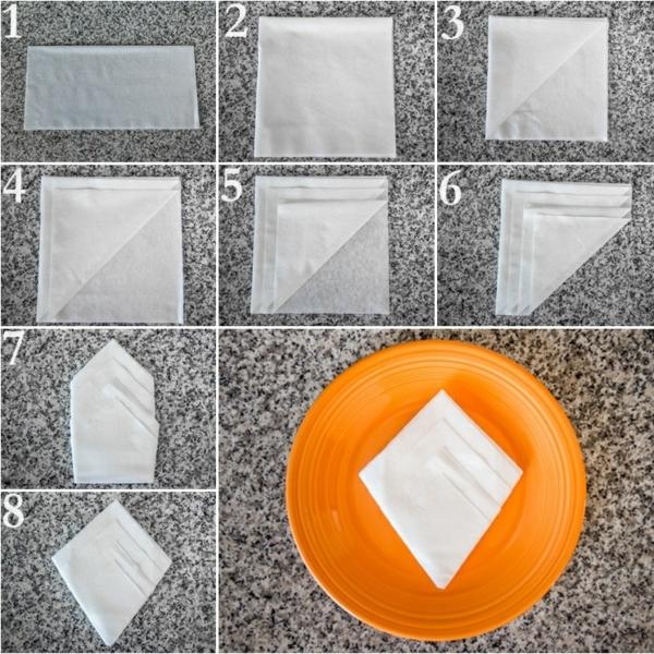 servietten falten anleitung papierservietten falttechnik diy ideen tischdeko