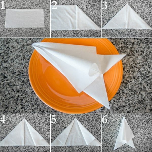 servietten falten anleitung papierservietten falttechnik