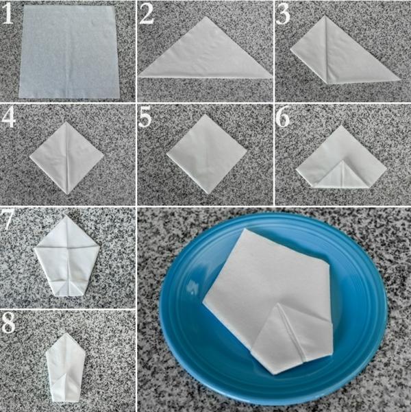 servietten falten anleitung papierservietten tischdeko