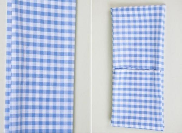 papierservietten falten tischdeko ideen stoffserviette karomuster