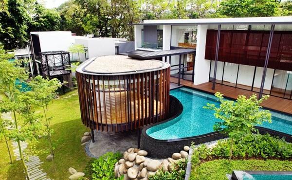 singapur screen haus k2ld architekten außenbereich pool nachhaltige architektur