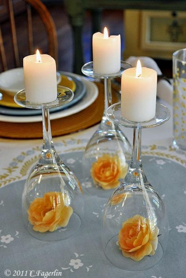 dekoration party deko kerzen rosen