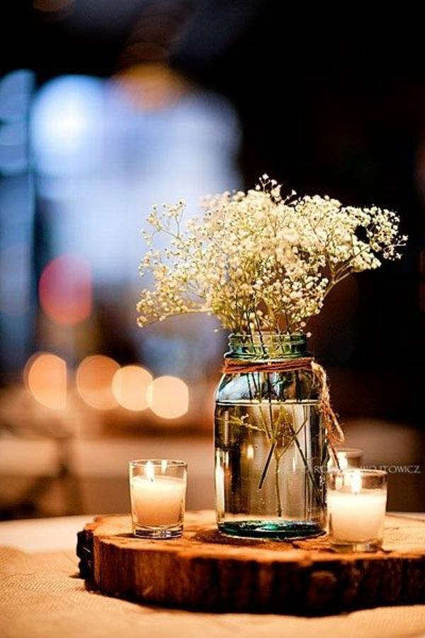 dekoration party deko kerzen vase