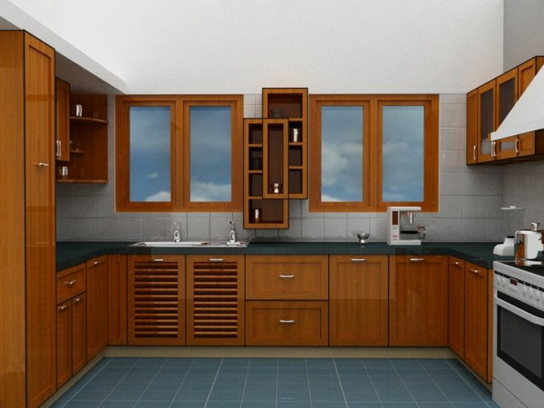 modulküchen designideen küche braune möbel