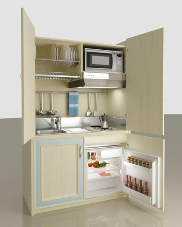 modulküchen designideen küche kühlschrank mikrowelle
