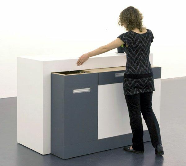 Modul Küchenmöbel Designideen Küche Mini Ausziehschrank