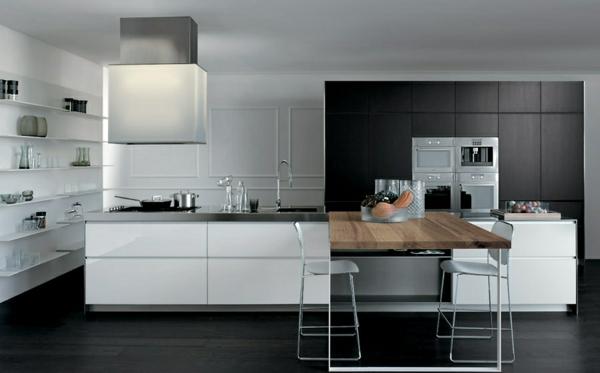 modulküchen küchen design esstisch holz oberfläche