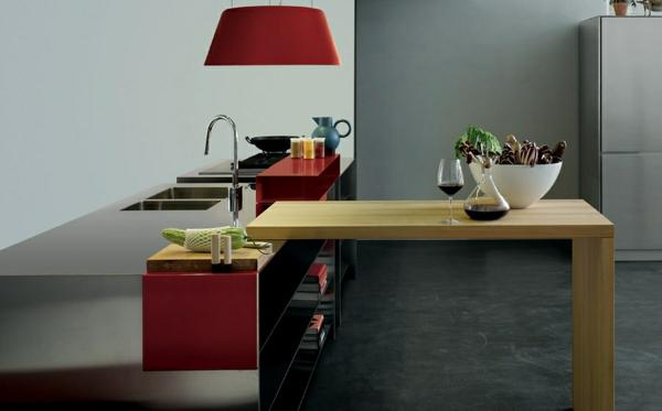modulküchen küchen italienisch rote akzente