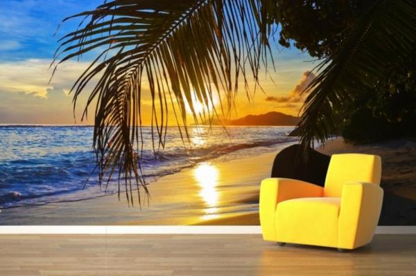 tapeten abläsen haushalt schöne designs exotisch gelb