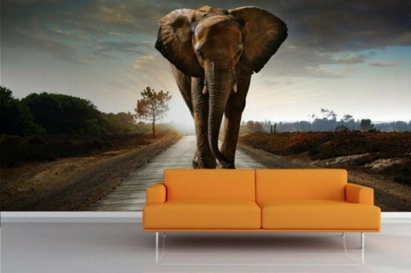 tapeten entfernen haushalt schöne designs orange sofa