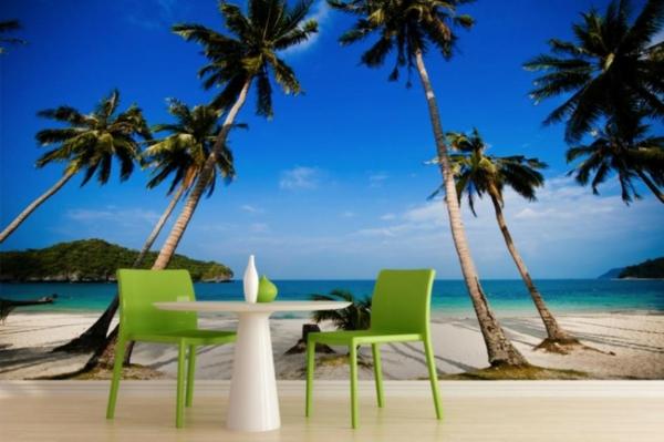 tapeten entfernen haushalt schöne designs palmen exotisch