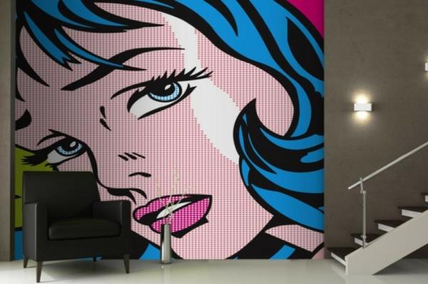 tapeten stil entfernen haushalt schöne designs pop art