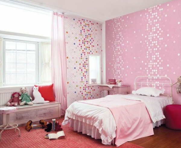 Schwarze Tapete Mit Wei?em Muster : Pink Room Ideas for Teenage Girls