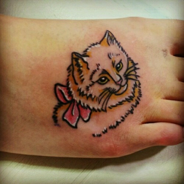 tattoo am fuss tattoos designs katze