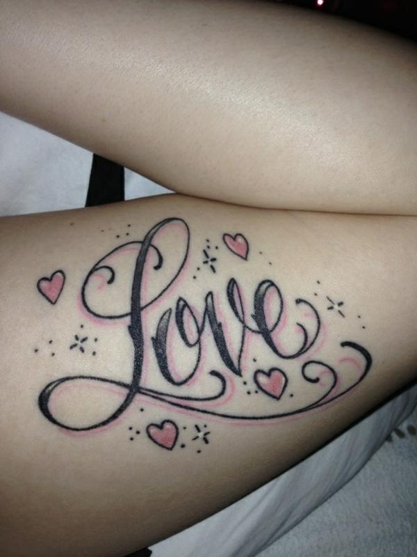 tattoo schriftarten oberarm liebe motive coole tattoos bilder