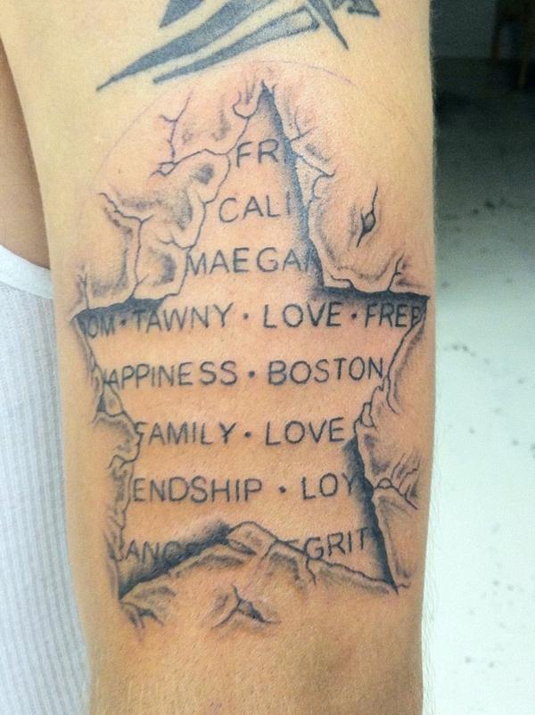 tattoo sprüche familienglieder namen oberarm