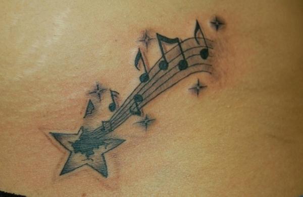 tattoo sterne tattoos musikalische noten