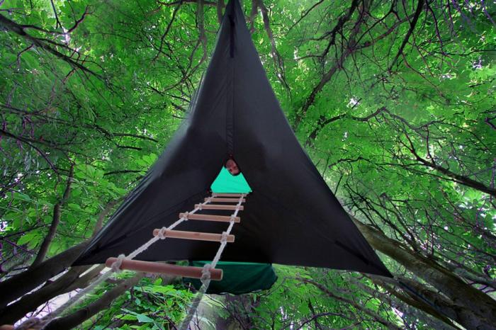 tentsile camping zelte hängende zelte in der luft seilleiter