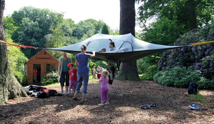 tentsile hängende camping zelte alex shirley smith zelt in die luft aufbauen