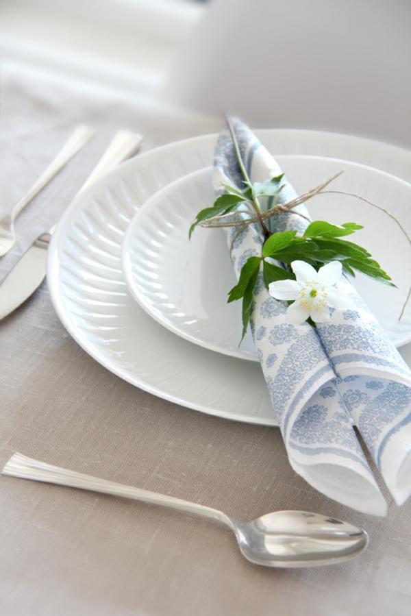 tischdeko ideen mit servietten und blumen papierservietten falten anleitung