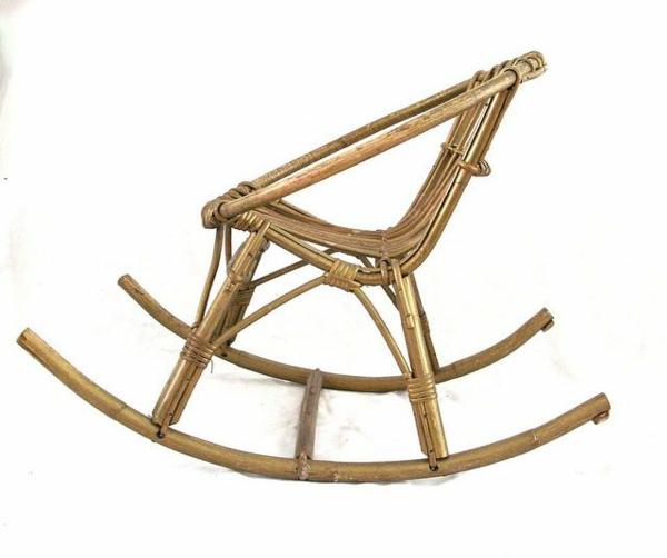 bambus möbel deko schaukelstuhl