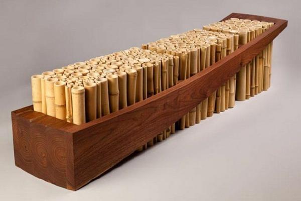 bambus möbel deko sitzbank design