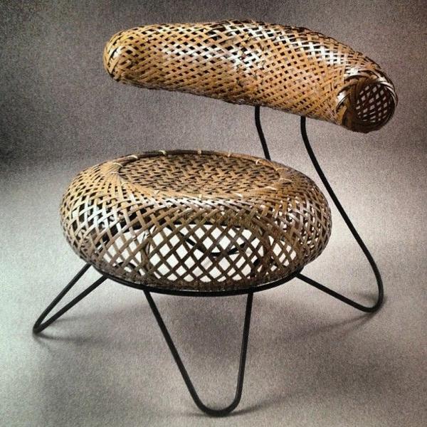 Designer Stuhl Seitenansicht Holz Möbel