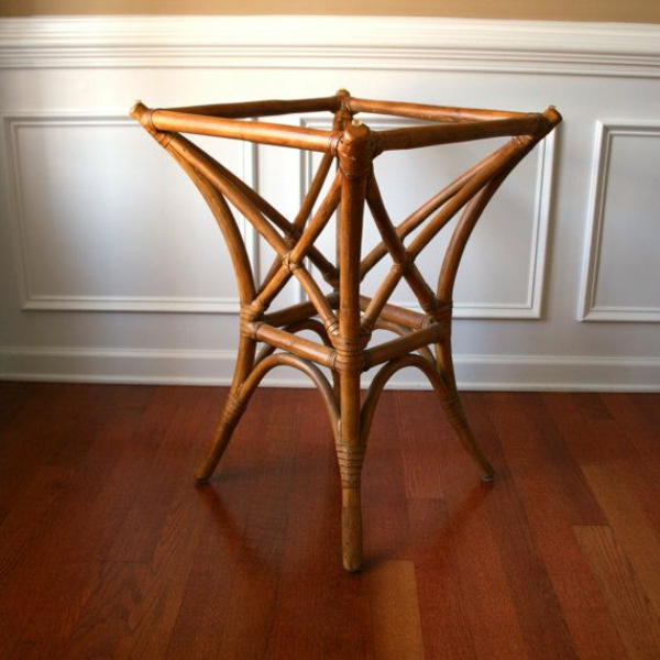 bambus möbel deko tischbasis