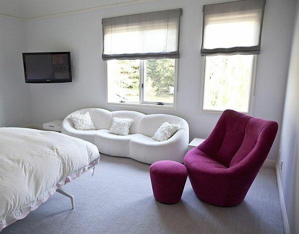 jugendzimmer für mädchen weiße lila möbel