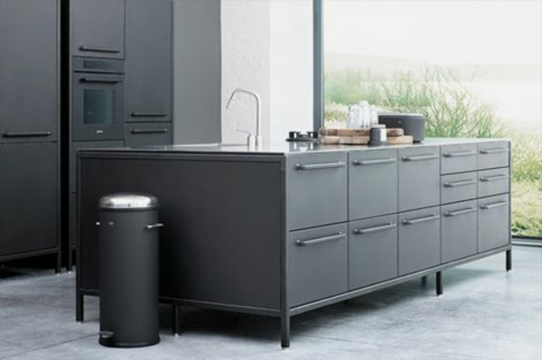 modulküchen designideen küche grau