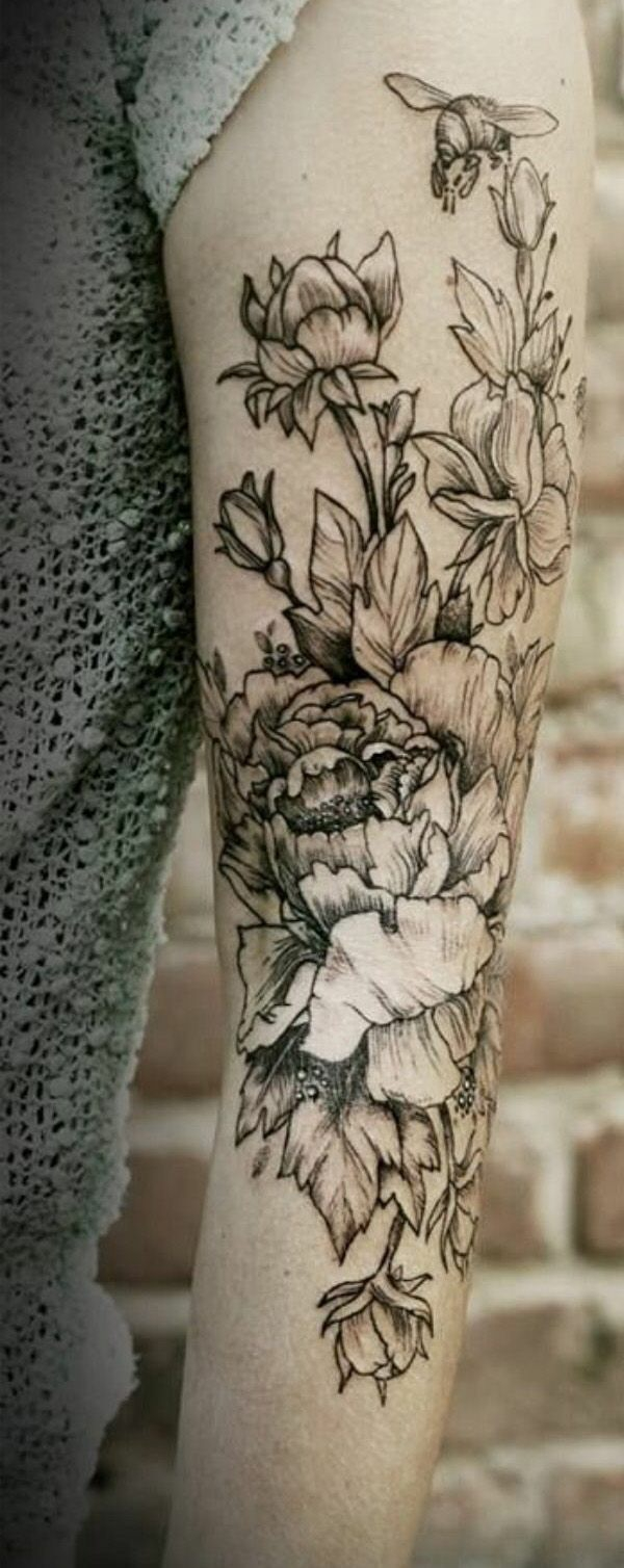 tattoos bilder oberarm tattoo designs blumen