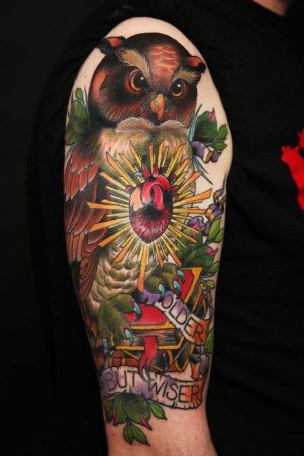 tattoos ideen für männer farbiges tattoo unterarm