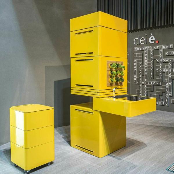 ultramoderne k chenl sungen f r kleine k chen in gelb. Black Bedroom Furniture Sets. Home Design Ideas