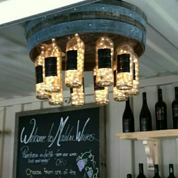 unique designer leuchten diy lampe aus weinflasche