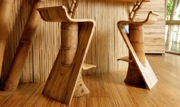 designideen bambus möbel deko barhocker