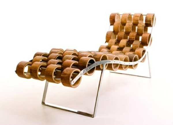 designideen bambus deko möbel  liegesessel