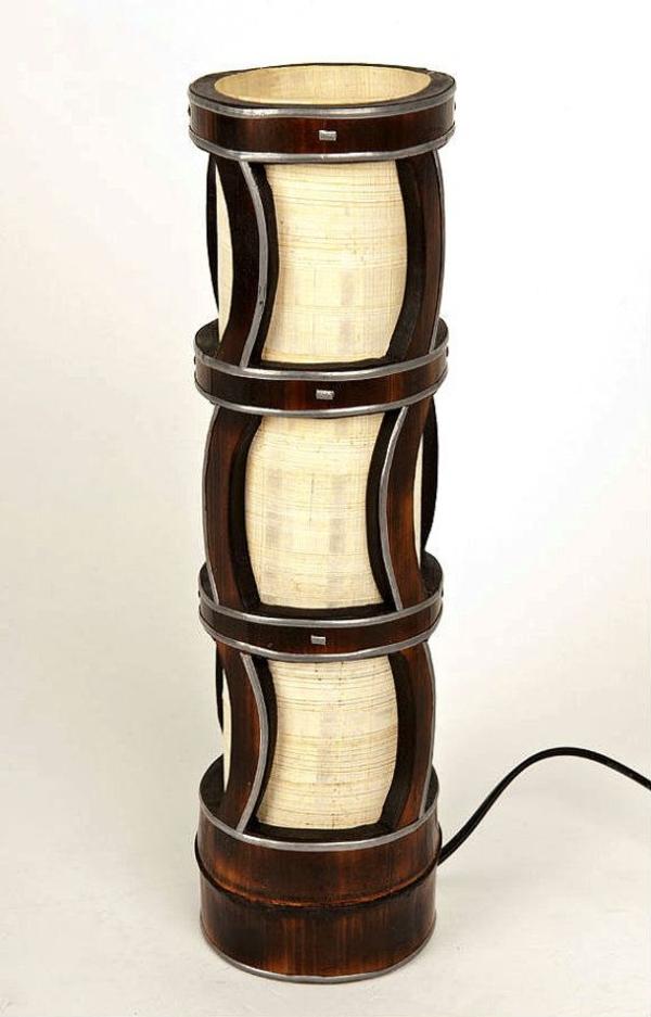 designideen bambus möbel deko tischlampe