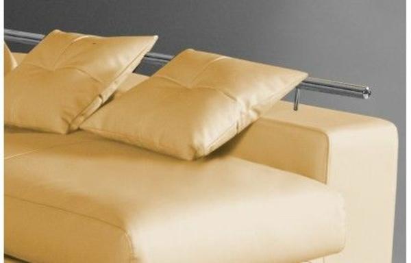 möbel ledermöbel scheselong sofa gelb