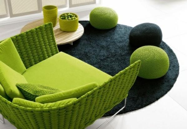 möbel scheselong sofa modern grün
