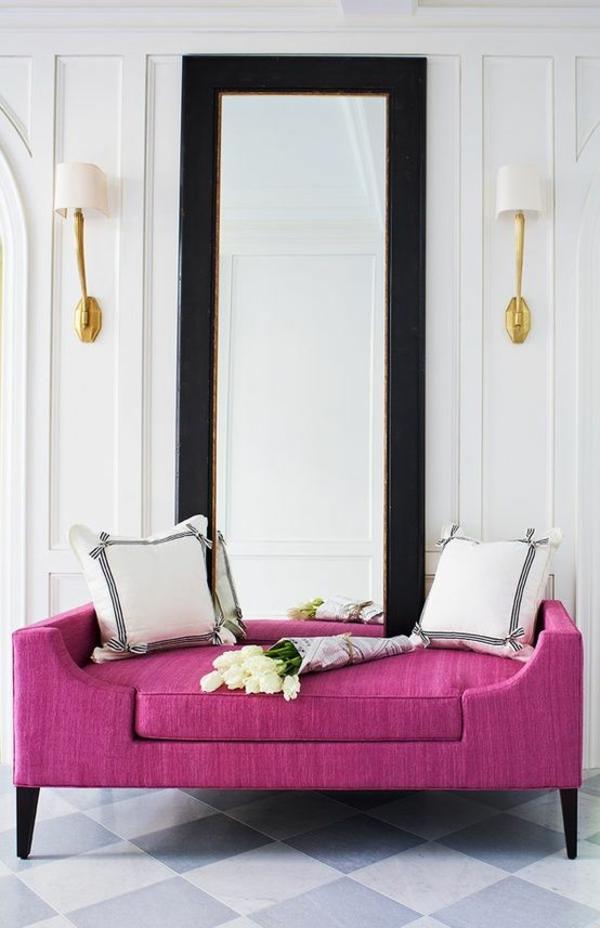 möbel scheselong sofa modern lila